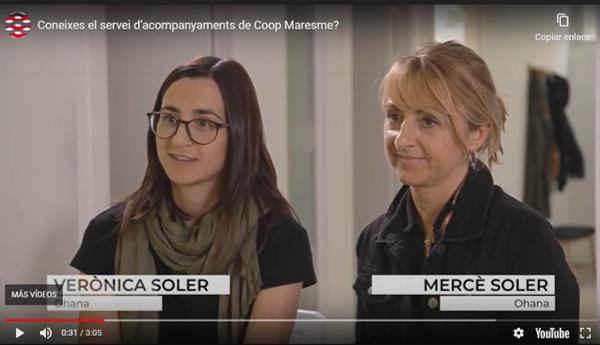 La Cooperativa OHANA participa al video del servei d'acompanyaments de COOP MARESME