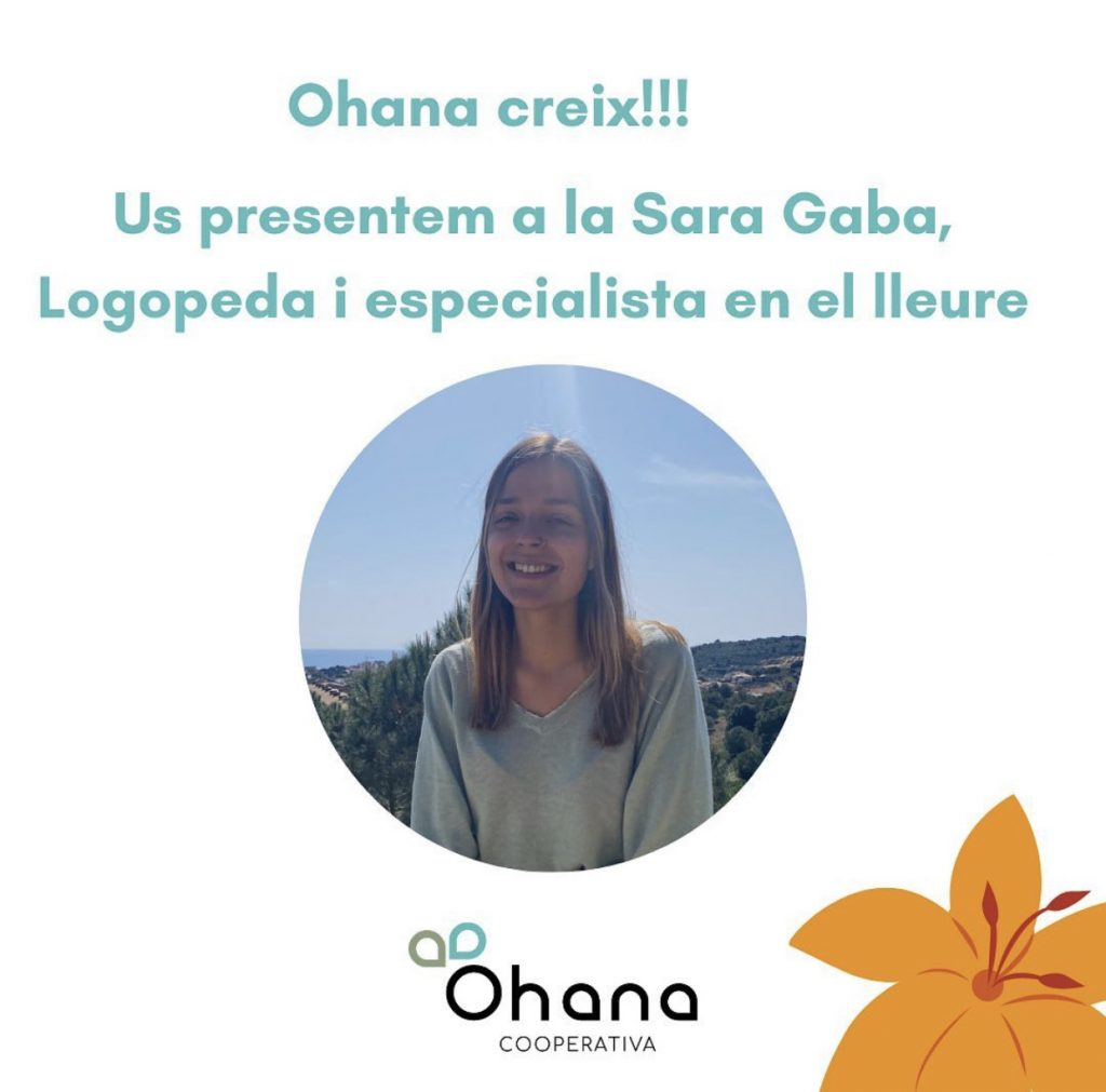 Ohana creix!!! Us presentem a la Sara Gaba